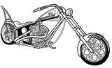 Imprimer le coloriage : Moto, numéro 3857