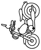 Imprimer le coloriage : Moto, numéro 3859