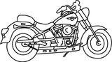 Imprimer le coloriage : Moto, numéro 5409