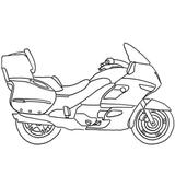 Imprimer le coloriage : Moto, numéro 543
