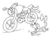 Imprimer le coloriage : Moto, numéro 546