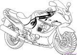 Imprimer le coloriage : Moto, numéro 643d2ffb