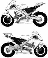 Imprimer le coloriage : Moto, numéro 7698