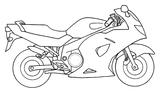 Imprimer le coloriage : Moto, numéro 7699
