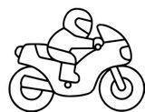 Imprimer le coloriage : Moto, numéro 7fe60a21