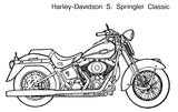 Imprimer le coloriage : Harley-Davidson, numéro 650309fb