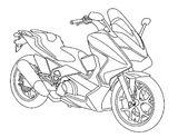 Imprimer le coloriage : Honda, numéro 237591