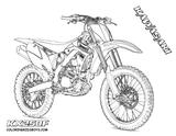 Imprimer le coloriage : Kawasaki, numéro b39a0610
