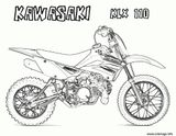 Imprimer le coloriage : Kawasaki, numéro c76a85a9