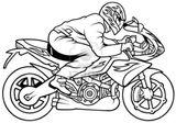 Imprimer le coloriage : Moto, numéro af1dc4e6