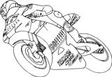 Imprimer le coloriage : Moto, numéro fdc14a77