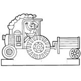 Imprimer le coloriage : Tracteur, numéro 16973