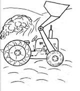 Imprimer le coloriage : Tracteur, numéro 16978