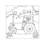 Imprimer le coloriage : Tracteur, numéro 16979