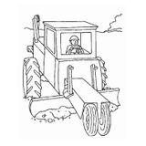 Imprimer le coloriage : Tracteur, numéro 16981