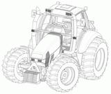 Imprimer le dessin en couleurs : Tracteur, numéro 19353