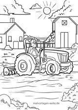 Imprimer le coloriage : Tracteur, numéro 1d81dd3