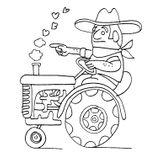 Imprimer le coloriage : Tracteur, numéro 27070