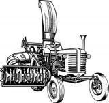 Imprimer le coloriage : Tracteur, numéro 27855