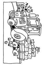 Imprimer le coloriage : Tracteur, numéro 27856
