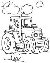 Imprimer le coloriage : Tracteur, numéro 29583c89