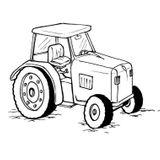 Imprimer le coloriage : Tracteur, numéro 3687