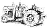 Imprimer le coloriage : Tracteur, numéro 3694