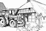 Imprimer le coloriage : Tracteur, numéro 3702