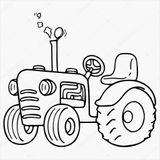 Imprimer le coloriage : Tracteur, numéro 3b8cabfe