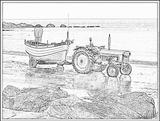 Imprimer le coloriage : Tracteur, numéro 53747