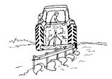 Imprimer le coloriage : Tracteur, numéro 609