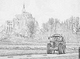 Imprimer le coloriage : Tracteur, numéro 61873