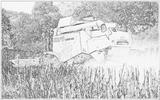 Imprimer le coloriage : Tracteur, numéro 61875