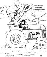 Imprimer le coloriage : Tracteur, numéro 755134