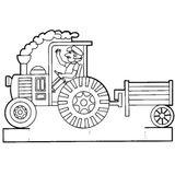 Imprimer le coloriage : Tracteur, numéro 7622