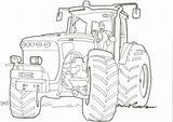 Imprimer le coloriage : Tracteur, numéro 8aafca1