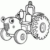 Imprimer le coloriage : Tracteur, numéro 9357
