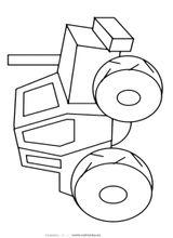 Imprimer le coloriage : Tracteur, numéro 9360