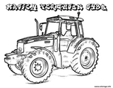Imprimer le coloriage : Tracteur, numéro a61e85