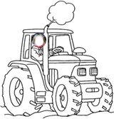 Imprimer le coloriage : Tracteur, numéro cbe210f7