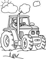 Imprimer le coloriage : Tracteur, numéro e98eb50d