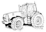 Imprimer le coloriage : Tracteur, numéro f054047c
