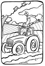 Imprimer le coloriage : Tracteur, numéro fc90d09f
