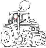 Imprimer le coloriage : Tracteur, numéro ffbfe548