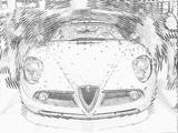 Imprimer le coloriage : Alfa Romeo, numéro 105421