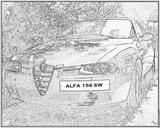 Imprimer le coloriage : Alfa Romeo, numéro 105426