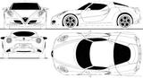 Imprimer le coloriage : Alfa Romeo, numéro 225448