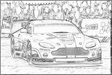 Imprimer le coloriage : Aston Martin, numéro 105458