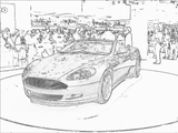 Imprimer le coloriage : Aston Martin, numéro 105495