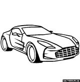 Imprimer le coloriage : Aston Martin, numéro 224957